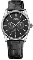 HUGO BOSS 1513124 Leather Mens Watch - Black Dial