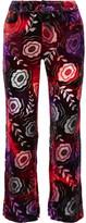 Anna Sui Devoré-chiffon Flared Pants - US2