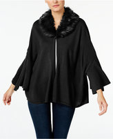Alfani Petite Faux-Fur-Collar Capelet, Only at Macy's