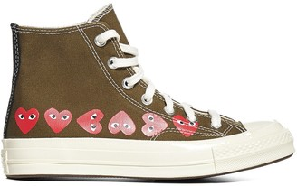 Comme des Garcons X Converse All Star Hi-Top Sneakers