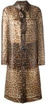 Christopher Kane leopard print raincoat - women - Polyurethane/Stone - 38