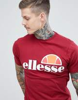 Ellesse T-Shirt With Classic Logo In Burgundy