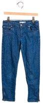 Bonpoint Girls' Straight-Leg Mid-Rise Jeans