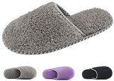 HomeTop Women's Cozy Plush Fleece Slip On Memory Foam House Slippers
