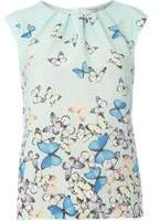 Dorothy Perkins Womens **Billie & Blossom Petite Butterfly Print Shell Top- Multi Colour