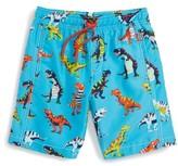 Hatley Boy's Roaring T-Rex Swim Trunks