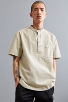 Urban Outfitters Band Collar Short Sleeve Popover Shirt