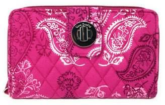 Vera Bradley Stamped Paisley Turnlock-Wallet