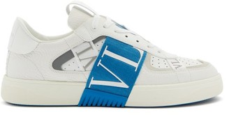 Valentino Vl7n Cross-strap Leather Trainers - White Multi