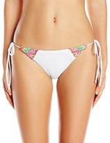 Mara Hoffman Women's Floral Embroidered Tie-Side Bikini Bottom
