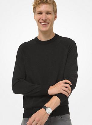 Michael Kors Metallic Merino Wool Sweater