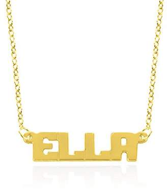 Monogram Online NP001B-sm-GPSS-Link- 18 in 18 in Personalized Ariel Style Block Letter Name Necklace