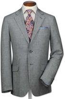 Charles Tyrwhitt Classic Fit Navy and White Linen Linen Jacket Size 44 Regular