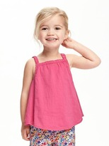 Old Navy Button-Back Gauze Top for Toddler Girls