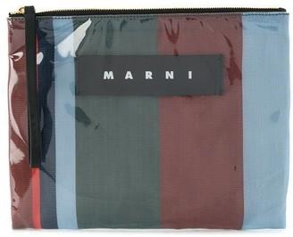 Marni Striped Clutch Bag