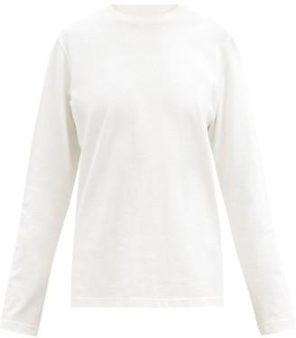 Bottega Veneta Sunrise Long-sleeved Cotton T-shirt - Ivory