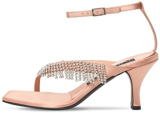 Les Petits Joueurs 70mm Ardith Satin & Crystals Sandals