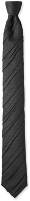 Title Of Work Men's Ruched Silk Tie