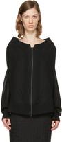 Ann Demeulemeester Black Oversized Milana Bomber Jacket