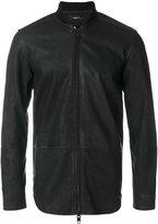 Diesel leather zip fastened jacket - men - Cotton/Leather/Viscose - M