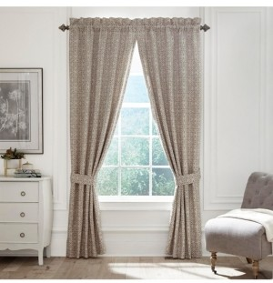 "Croscill Emery 95"" Square Curtain Panel Pair Bedding"