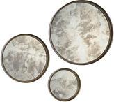 Jono Mirrors Mini Antique Mirror Set, Silver