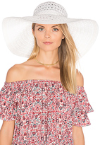 ale by alessandra Chantilly Hat in White.
