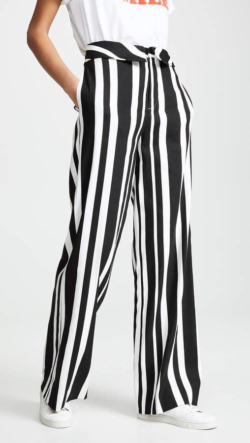 Alice + Olivia Geo Fold Over Pants