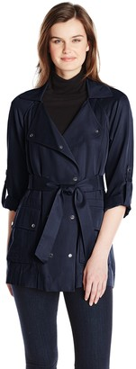 Vince Camuto Women's Soft Double Breasted Trench Coat