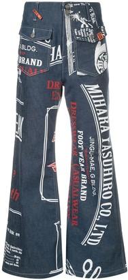 Maison Mihara Yasuhiro Flared Jeans