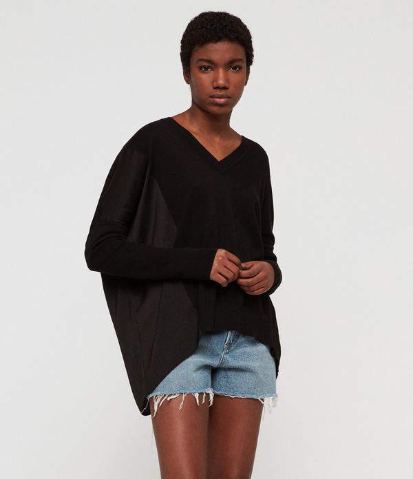 Alda Panel V-neck Sweater
