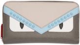 Fendi Grey bag Bugs Zip Around Wallet