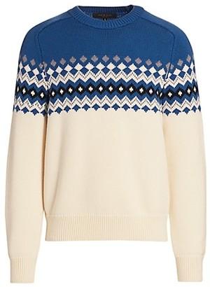 Rag & Bone LLoyd Fair Isle Wool Sweater