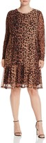 Junarose Leopard Print Ruffle-Hem Dress
