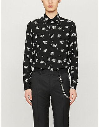 The Kooples Floral-print relaxed-fit woven shirt