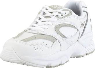 Apex Women's Lace Walker-X-Last Sneaker White 6.5 Wide US