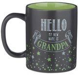 "Grasslands Road® 12 oz. ""Hello, My New Name Is Grandpa"" Mug in Black"