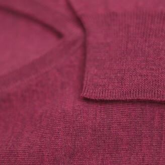 Romeo Merino - Merino Wool V-Neck Sweater Sangria