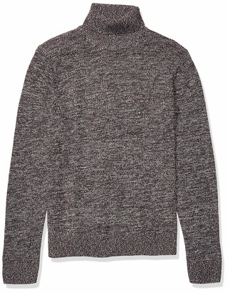 Goodthreads Supersoft Marled Turtleneck Sweater Burgundy L Tall