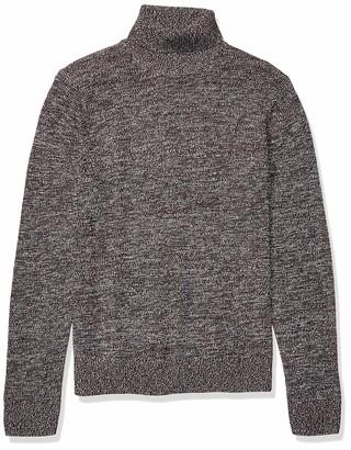 Goodthreads Supersoft Marled Turtleneck Sweater Burgundy M Tall
