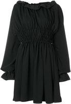 MM6 MAISON MARGIELA smocked crepe mini dress
