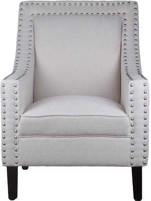 BEIGE Bordeaux Linen Arm Chair