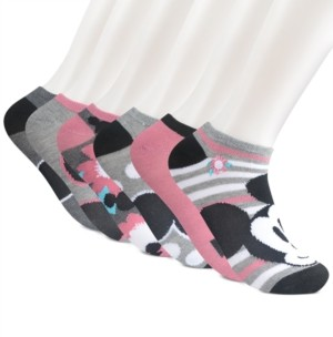 Planet Sox Women's 6-Pk. Mickey Mouse Flower Power No-Show Socks