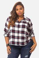 Fashion to Figure Andie Cropped Plaid Shirt