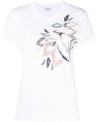 Peserico floral-print T-shirt