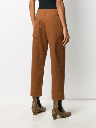 Closed High-Waisted Cropped Trousers