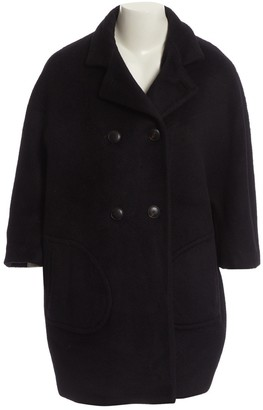 Alberto Biani Navy Wool Coats