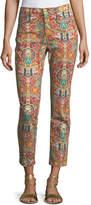 Etro Multicolor Paisley-Print Straight-Leg Jeans