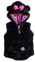 Disney Minnie Mouse Clubhouse Faux Fur Hooded Vest for Girls