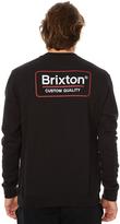 Brixton Palmer Mens Crew Fleece Black